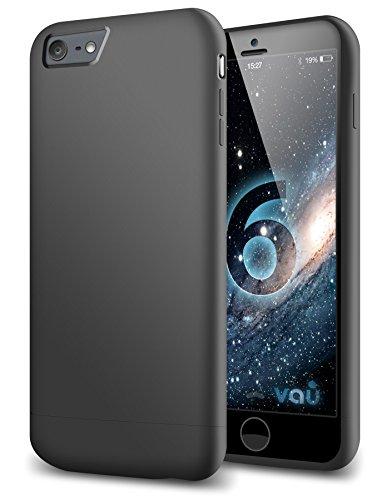 vau Snap Hülle Slider matt Black - zweigeteiltes Hard-Hülle kompatibel zu Apple iPhone 6 (Hülle schwarz hart mit Innenfutter)