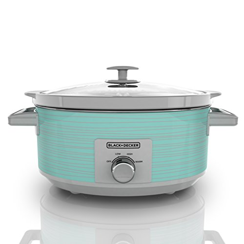 BLACK+DECKER Slow Cooker, 7 quart, Teal Wave