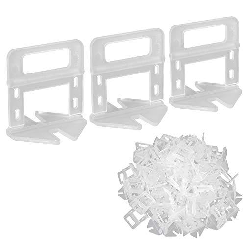 100 piezas Clip de Nivelación para Azulejos 1.5mm Sistema de Nivelación Espaciador Plastico para Nivelación para Ceramica Baldosa Tile Mosaico