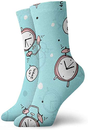 Preisvergleich Produktbild Love girl Cartoon Wecker personalisierte Söckchen athletische Strümpfe lässige Socken 30cm für Männer Frauen