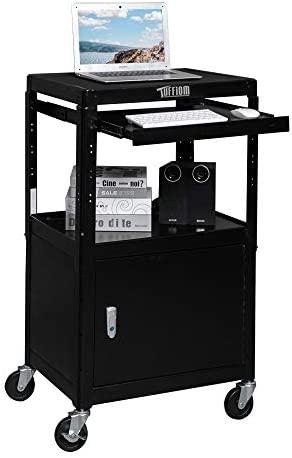 TUFFIOM AV Presentation Cart for Video Projector Laptop Computer Mobile Workstation Utility product image