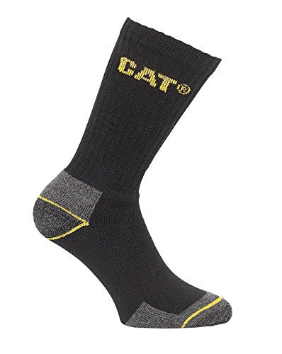 Caterpillar Crew Work Sock - Black - Size 11 x 14 - Pack of 3 Pairs