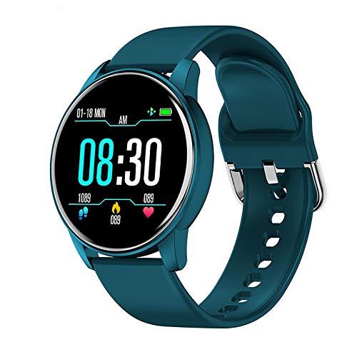 Smartwatch Reloj Inteligente Mujer y Hombre con Monitor de Sueño Pulsómetro 1.3 Inch Pantalla Táctil Completo Smartwatch Pulsera Actividad Impermeable IP67 para Hombre Mujer niños Blue