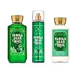 Bath and Body Works - Vanilla Bean Noel - Winter 2019 - Daily Trio - Shower Gel, Fine Fragrance Mist & Super Smooth Body Lotion