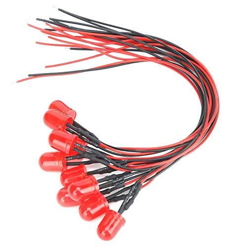Cuentas de lámpara LED 10mm / 0.39in 12V 0.06W Diodos emisores de luz de Cuentas de lámpara para(Redness)