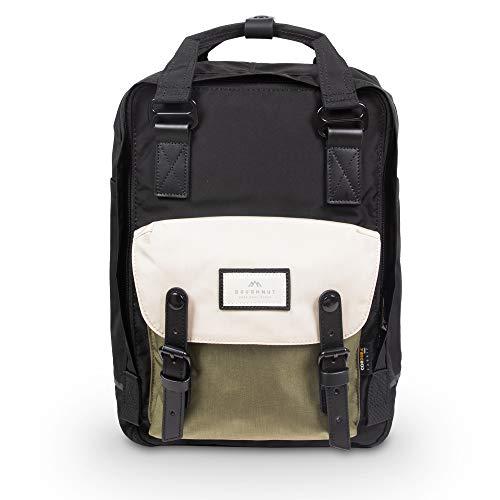 Doughnut Macaroon Large Jumanji Series 18L Travel School Ladies College Girls Lightweight Casual Daypacks Bag Backpack (Black x Slate Green)