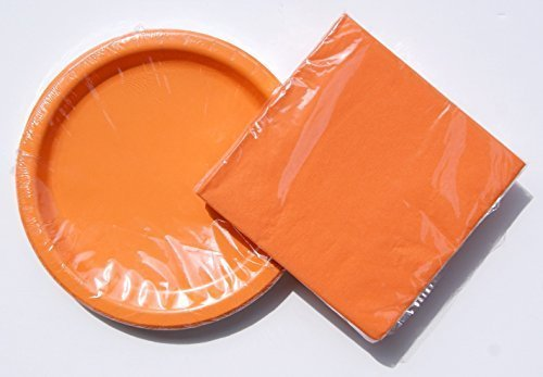 Tangerine (Orange) Birthday Party Supply Kit - Plates and Napkins by Wal-Mart, Inc.