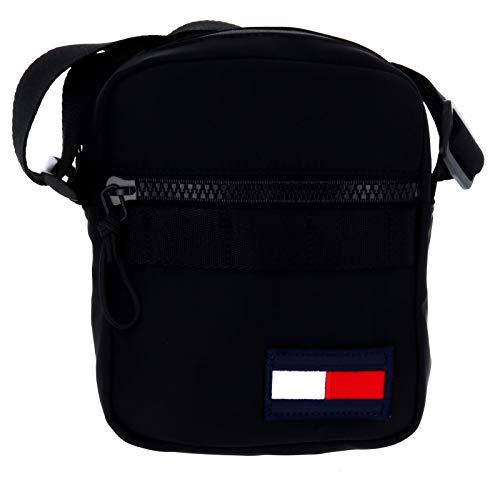 Tommy Hilfiger Herren Tommy Mini Reporter Taschenorganizer, Schwarz (Black), 0.1x0.1x0.1 centimeters