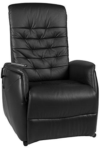 Duo Collection Fernseh-TV-Sessel Florenz, Aufstehhilfe, Motor, Liegefunktion, stufenlos elektrisch verstellbar, Fernbedienung, Bezug Leder, schwarz