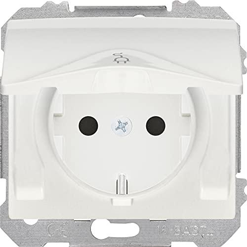 BJC EF-185024 Iris Estanca IP44 2P+T Base Enchufe con Seguridad, Blanco