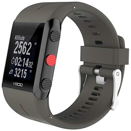 ICHQ Für Polar V800 Handgelenkgurte, Klassische Komfortable Sport Einstellbar Uhrenarmband (Grau)