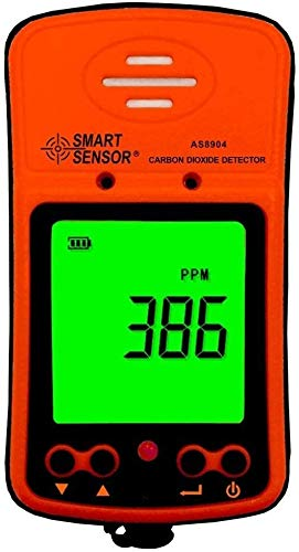 Portable CO2 Gas Detector 0~1000PPM LCD Display Rechargeable Li-Battery Powered Alarm Handheld Digital Nitrogen Dioxide Gas Monitor