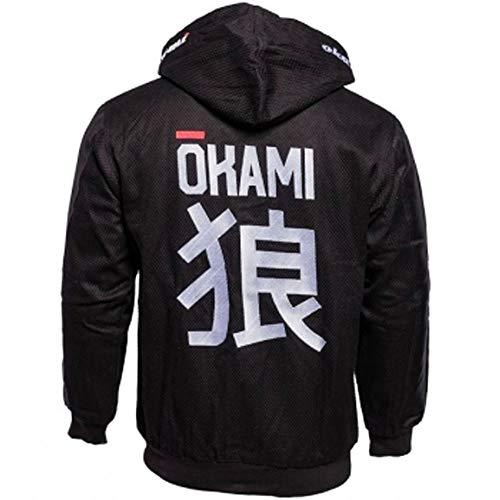 Okami fightgear Casual Gi Jacket 2.0 - Jiu Jitsu Grappling BJJ Judo Kampfsport Jacke mit Kapuze und Reißverschluß (M)