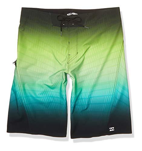 Billabong Men's Fluid Pro Boardshort, Black Neon, 30