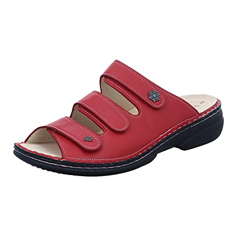 Finn Comfort Menorca-Soft, Damen Offene Sandalen, Rot (Red), 41 EU