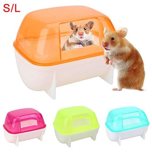 Dyyicun12 Hamster Badkamer, Badkamer Plastic Sauna Toilet Badkuip voor Kleine Dieren, S