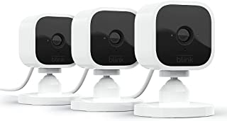 Blink Mini – Compact indoor plug-in smart security camera, 1080 HD video, night vision, motion...
