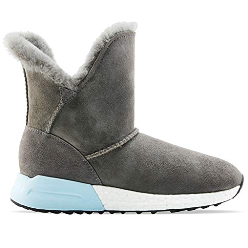 Cushioning Short Boots Outdoor Hiking Boots Winter Sheep Fur Snow Boots Casual Shoes Waterproof Shoes Women Mountaineering Boots (Color : Gray, Size : 38)