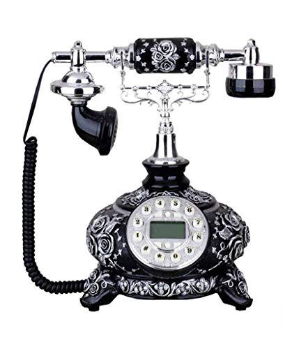 LDDZB Teléfono antiguo neoclásico, teléfono retro europeo fijo, pantalla azul, moderno, simple 25 x 22 x 27 cm (color: # 2) (color: # 2) (color: # 1)
