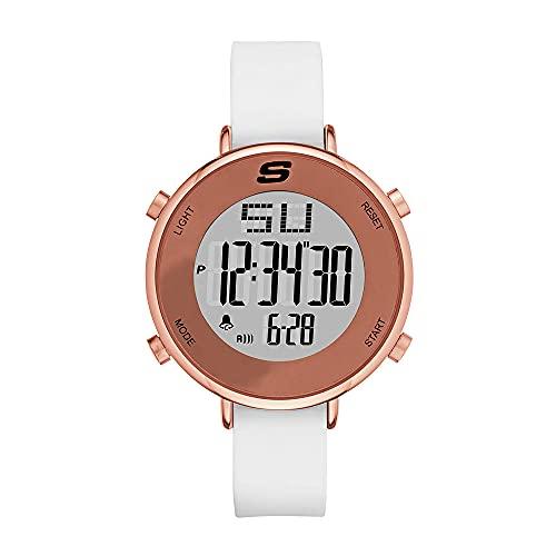 Skechers Women's Analog Quartz Uhr mit Silicone Armband SR6066