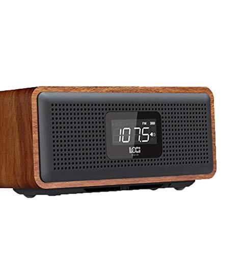 PLTJ-Pbs HiFi Bluetooth Speaker Drahtlose Tragbare Audio-Subwoofer-Lautsprecher Desktop-Audio-Lautsprecher Wood Handsfree TF Card Party Office