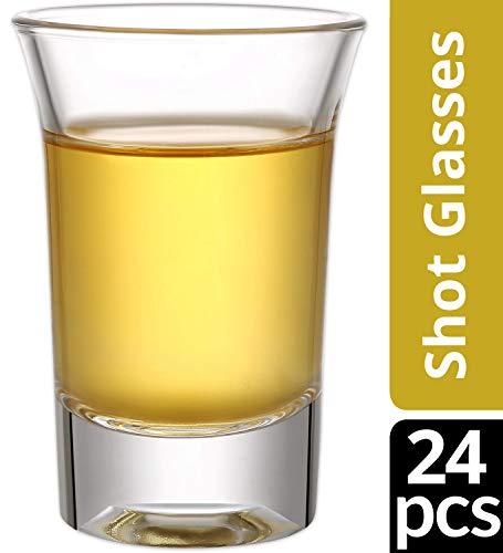 24 Schnapsgläser Glas 4cl Set Shotgläser - Spühlmaschinenfest - Gläser für Vodka Tequila