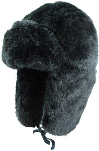 Highlander Russische Kunstfell-Mütze L schwarz