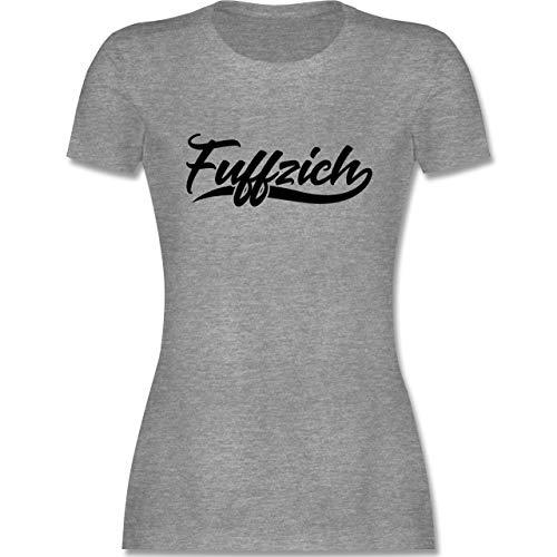 Geburtstag - Fuffzich 50. Geburtstag - M - Grau meliert - 50 Geburtstag Shirt Tshirt 50 Geburtstag Damen - L191 - Tailliertes Tshirt für Damen und Frauen T-Shirt