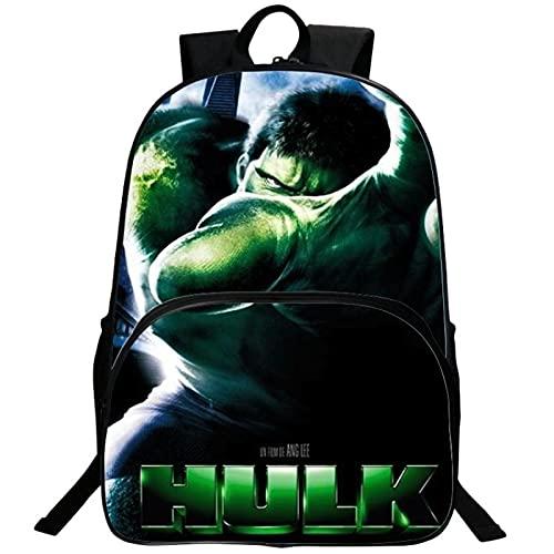 ZWRY Mochila infantil Marvel Superhero Niños Niños Niñas Mochila escolar Hulk Mochila de 16 pulgadas Mochila para adolescentes Regalo sorpresa Mochilas Azul profundo