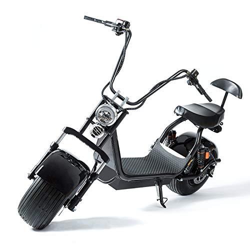 XINTONGSPP Eléctrica Moto, ciclomotor Fat Tire Vespa con choques Frontales/Traseros, Frenos de...