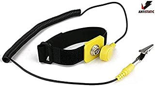 iMBAPrice Anti-Static Adjustable Grounding Wrist Strap Components Black, Yellow