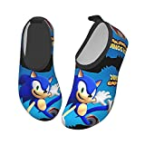 Yikava So-Nic The Hed-Ge-Hog Water Shoes for Kids Girls Boys, Quick Dry Water Skin Barefoot Sports Shoes for Sport Beach Swim Surf
