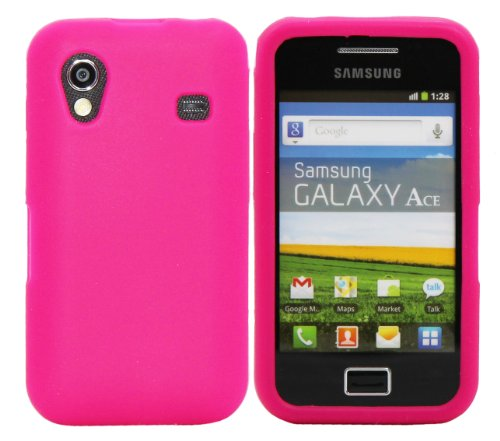 Luxburg® In-Colour Design Custodia Cover per Samsung Galaxy Ace GT-S5830 colore rosa, in silicone