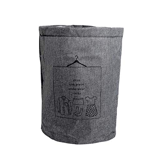 HNJing Wäschekörbe New Big Laundry Basket Clothes Bag Baskets Container Home Clothes Barrel Bags Kids Toy Laundry Basket Storage Organizer-Gray
