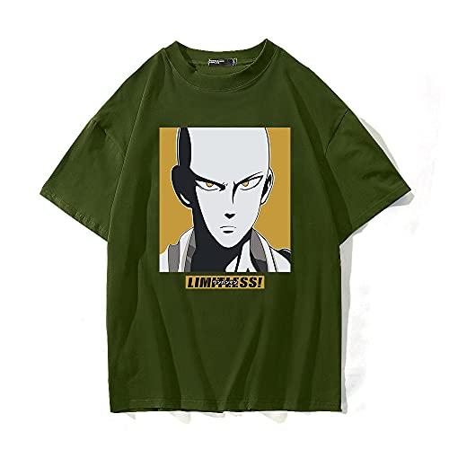 SHIQI-DYMX One Punch-Man Camisetas con Estampado De Anime, Ropa Unisex De Manga Corta para Hombres Y Mujeres Universitarias,XXXL