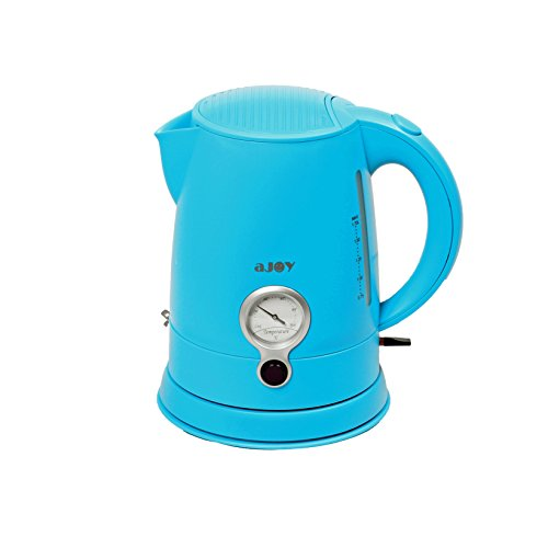 aJOY Professional Designer Series 1.7L Cordless Electric Kettle, BPA Free, 360 Degree Conceal Heating Element, Overheat Protection Control (Blue)