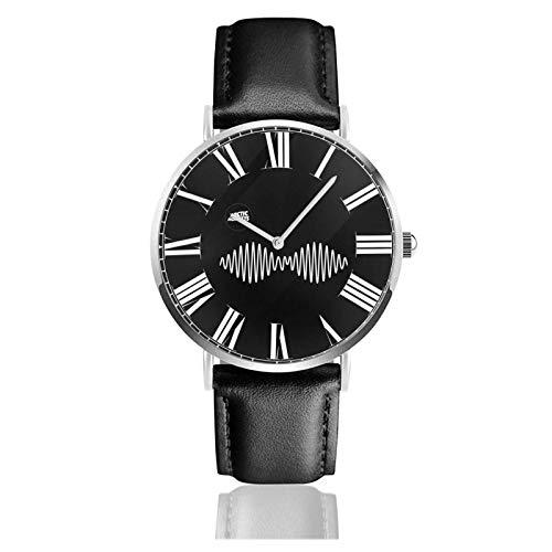 Reloj de Pulsera Monkeys Durable PU Correa de Cuero Relojes de Negocios de Cuarzo Reloj de Pulsera Informal Unisex