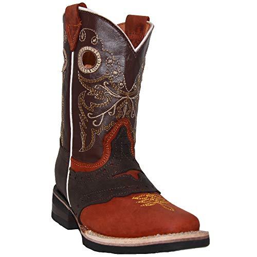 Kids Cowboy Boot Infant Toddler Western Boot (5 Toddler, Brown)