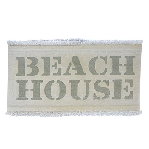 Mud Pie Beach House Washed Canvas Pillow Wrap 31x7 Inch