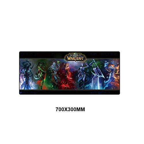 Gaming muismat World of Warcraft muismat XL groot van rubber voor laptop en muismat 70 x 30 cm MSSJ-RW021