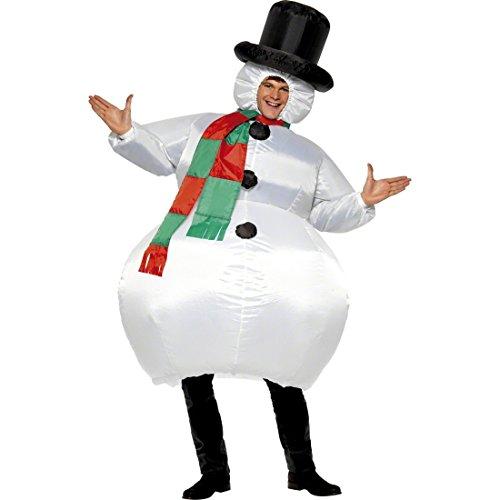 Atuendo muñeco de nieve inflable Traje hinchable Vestimenta divertida de carnaval Vestido navidad hombre Bola de nieve para hinchar Disfraz carnavalero adulto