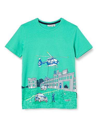 Salt & Pepper Jungen 03112154 T-Shirt, Grün (Opal Green 671), 128 (Herstellergröße: 128/134)