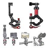 O'woda Soporte para Bicicleta para Teléfono Móvil + Clip de Cámara de Acción de Tija de Sillín de Aluminio Universal para dji Osmo Action /Osmo Pocket /Insta360 Series /Fimi Palm /GoPro Accesorios