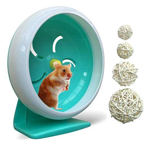 hamster wheel,silent hamster wheel,silent spinner,quiet hamster wheel,Super-Silent Hamster Exercise Wheel,Adjustable Stand silent spinner hamster wheel for Hamsters, Gerbils, Mice 6.9 inch(Blue A)