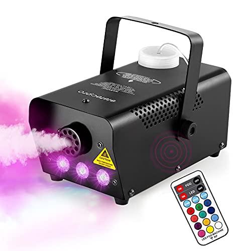 eletecpro Halloween Colorful Fog Machine, Portable 500W LED Smoke Machine with Fuse...