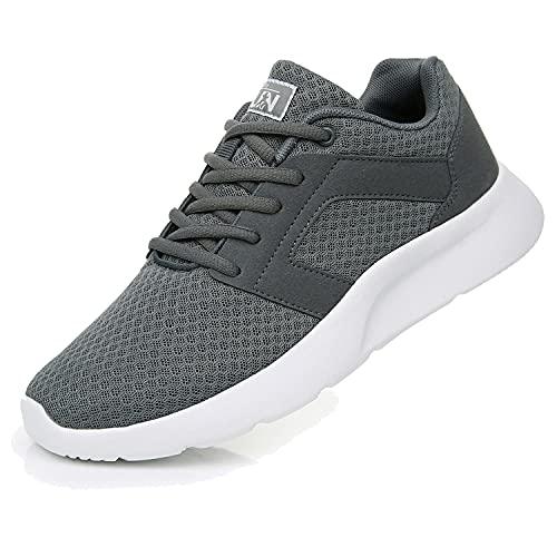 Fexkean Herren Damen Sportschuhe Laufschuhe Leicht Running Sneaker Freizeit Outdoor Fitness Jogging Schuhe Straßenlaufschuhe Turnschuhe (8996 Gray 46)