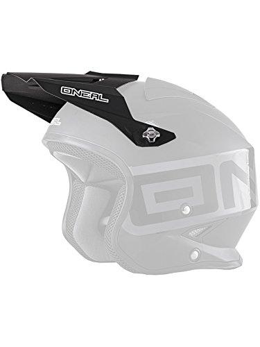 O'Neal Ersatz Schirm SLAT Solid Black Helm Visier Ersatzteil Jet Motorrad Scooter Mofa Matt Schwarz, 0806-901
