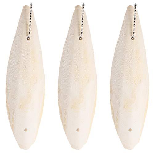 Balacoo Pájaro Jibia - Huesos de Jibia Colgante Colgante Juguete Loro para Pájaros Periquitos Pinzones Canarios 3 Piezas de Periquito Titular de Jibias