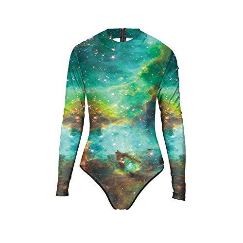 San qing Frauen Badeanzug Bikini Cosplay, Mädchen Conservative Galaxy Print Bademode Beach Party Kostüm,Galaxy,L/XL