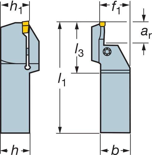 Sandvik Coromant lf151.37–2525–045b40TMAX q-cut vástago herramienta para cara acanalar